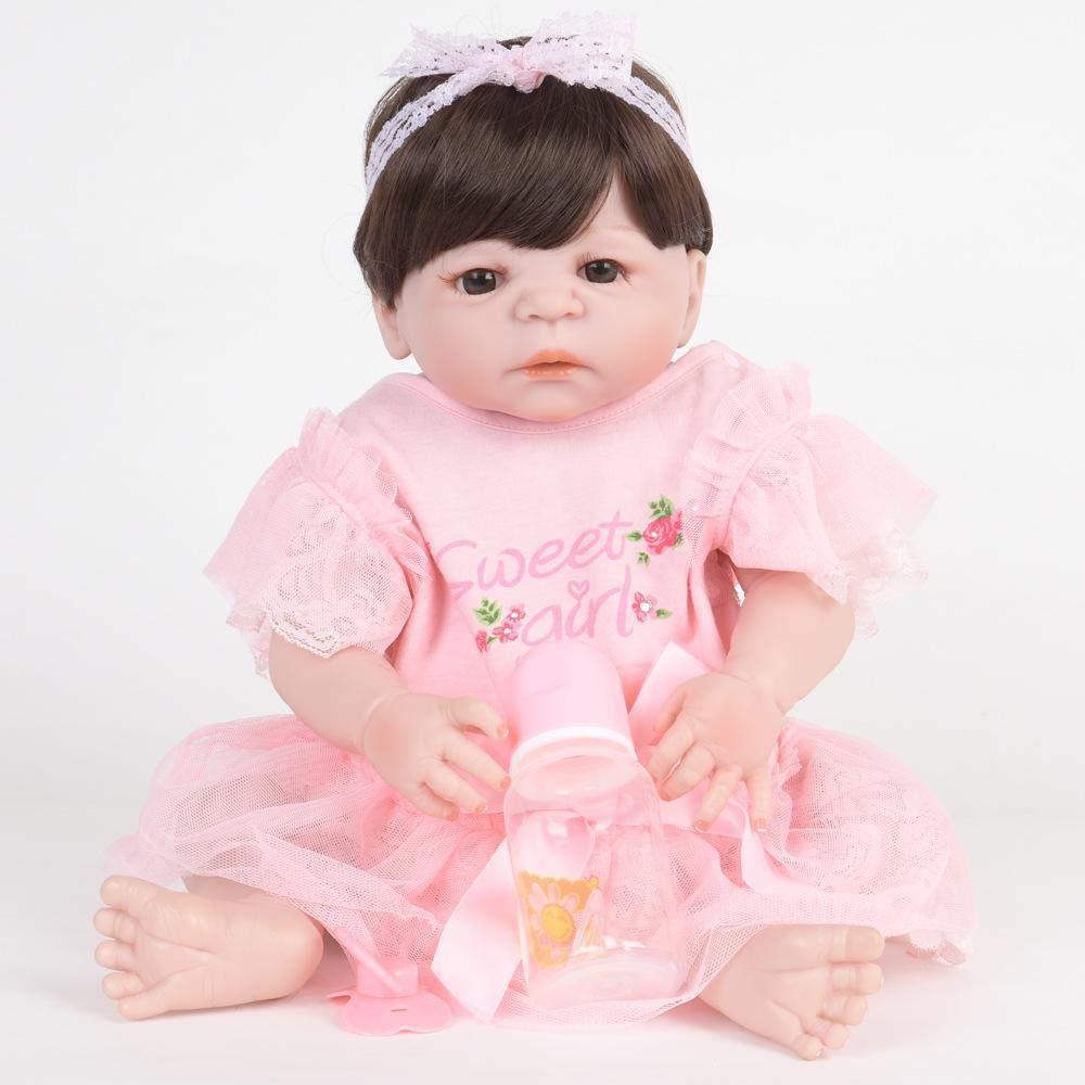 mejor calidad mejor precio Hongge Reborn Baby Doll,Realista de de de Silicona muñeca Reborn bebé Realista muñeca Juguete Mejor Navidad Regalo de cumpleaños 55cm  suministro directo de los fabricantes