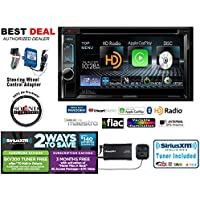 Kenwood DDX6902S 6.2 Multimedia Receiver with SXV300V1 SiriusXM Tuner and SWIRC Steering Wheel Controls with a FREE SOTS Air Freshener