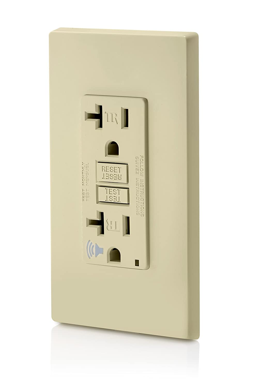 Leviton A7899 I Smartlockpro Slim Gfci With Audible Trip Alert 20 Circuit Breaker Keeps Immediately Tripping After Reset Electrical Amp 120 Volt Ivory