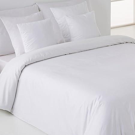 Sedalinne Sábanas HOTELES - Funda Nórdica Calidad 200 Hilos. Percal 50% algodón - 50% poliéster. Cama 150 cm. Color Blanco: Amazon.es: Hogar