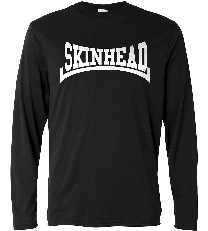 LaMAGLIERIA Camiseta de Manga Larga Hombre - Skinhead White Print ...