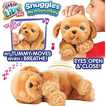 74e62441b722 Little Live Pets Snuggles My Dream Puppy Comes With An Adoption  Certificate: Amazon.co.uk: Toys & Games