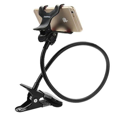 Soporte para teléfono celular, HAWEEL ® Universal cuello de ganso Clip soporte para teléfono celular