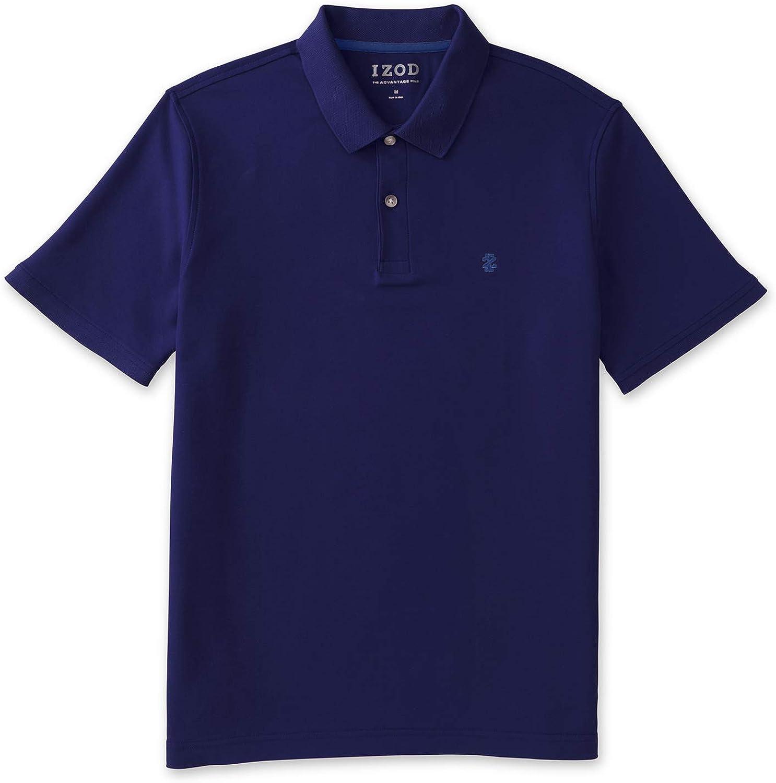 IZOD Men's Advantage Performance Short Sleeve Solid Polo