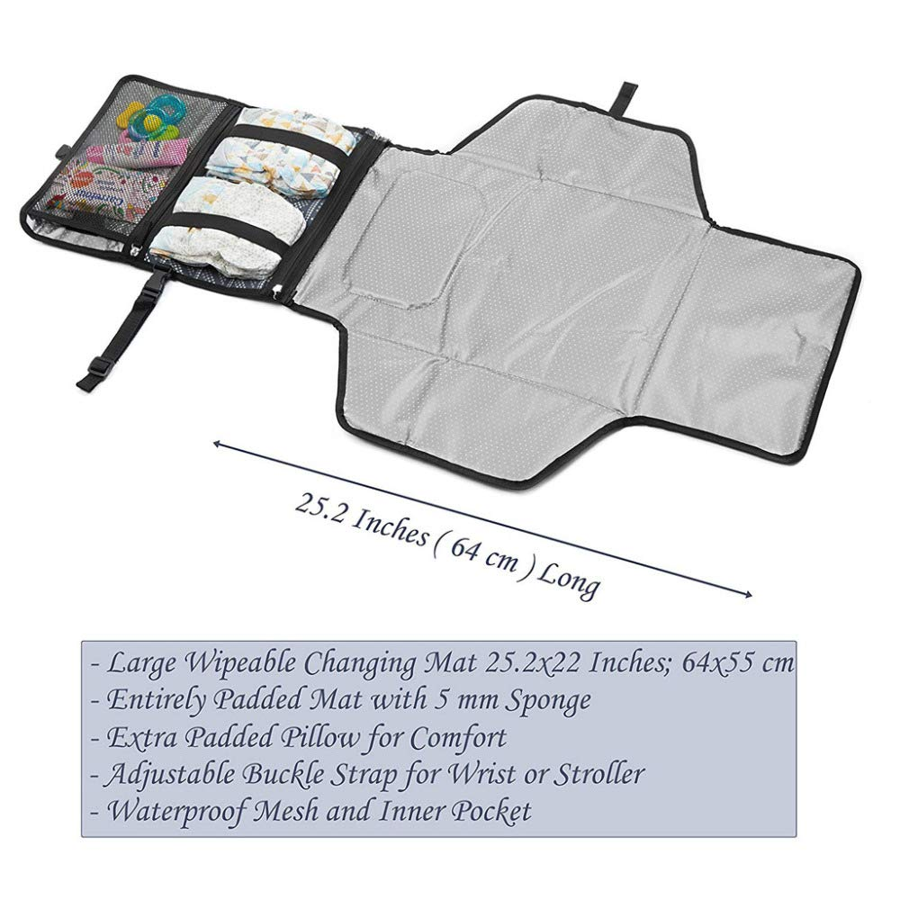 Waterproof Outdoor Bag Changing Mat with Removable and Washable ...