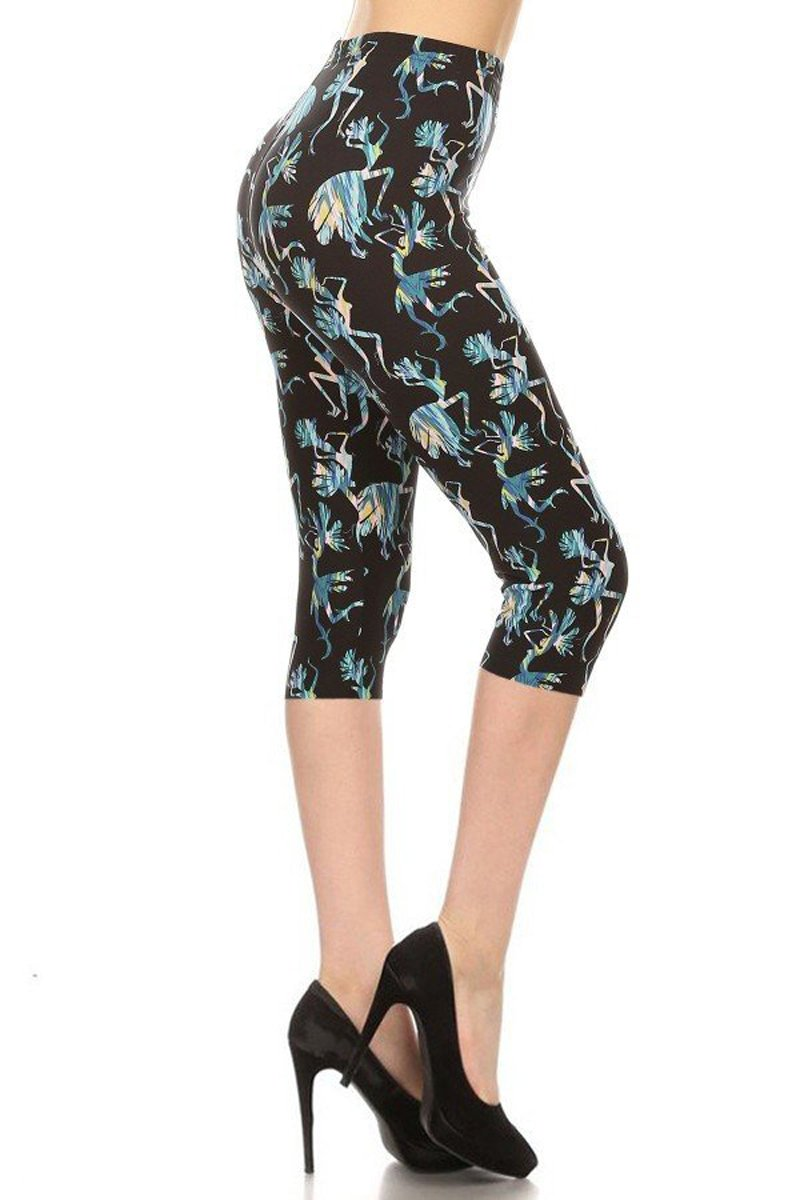 1bc100a666f50f Leggings Depot Capri REG/Plus Women's Buttery Popular Prints BAT6 product  image
