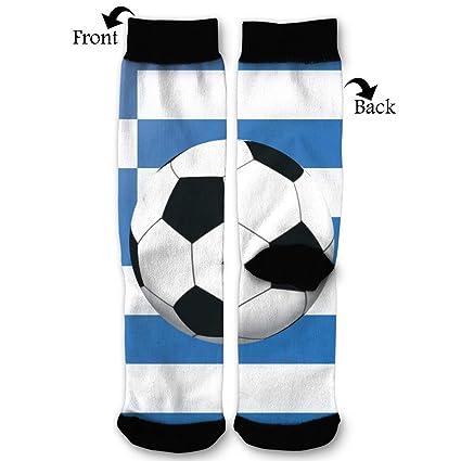Amazon.com  NRIEG Greece Flag Soccer Ball High Ankle Sock Men Women All  Season Soft Cotton Breathable Printed Socks  Home   Kitchen aad7985db2