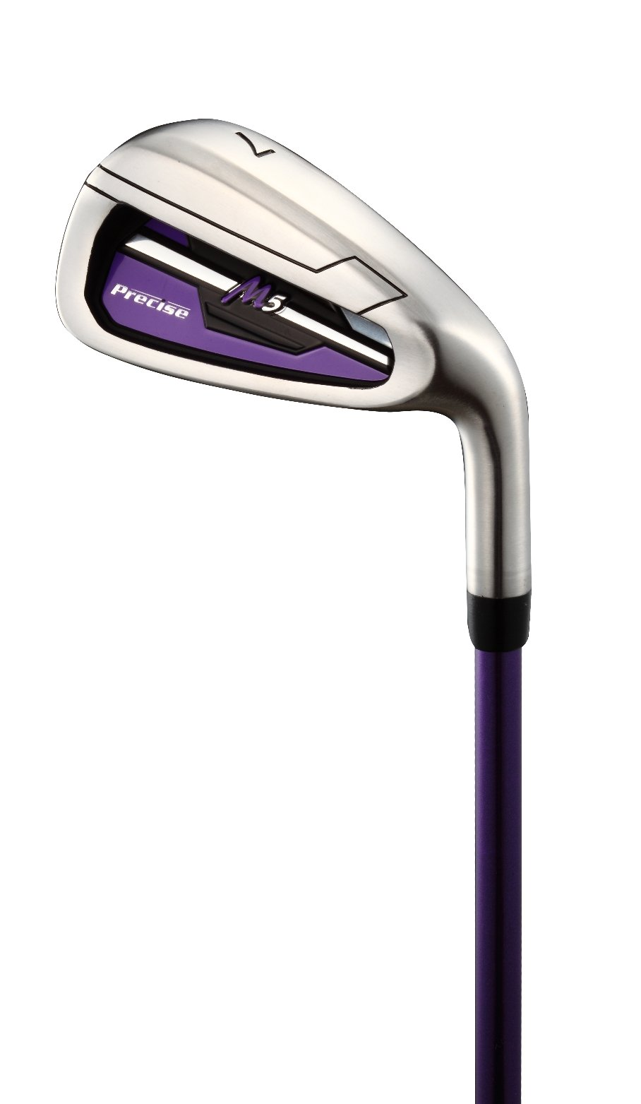 Precise M5 Ladies Womens Complete Right Handed Golf Clubs Set Includes Titanium Driver, S.S. Fairway, S.S. Hybrid, S.S. 5-PW Irons, Putter, Stand Bag, 3 H/C's Purple (Right Hand Petite Size -1'') by PreciseGolf Co. (Image #5)