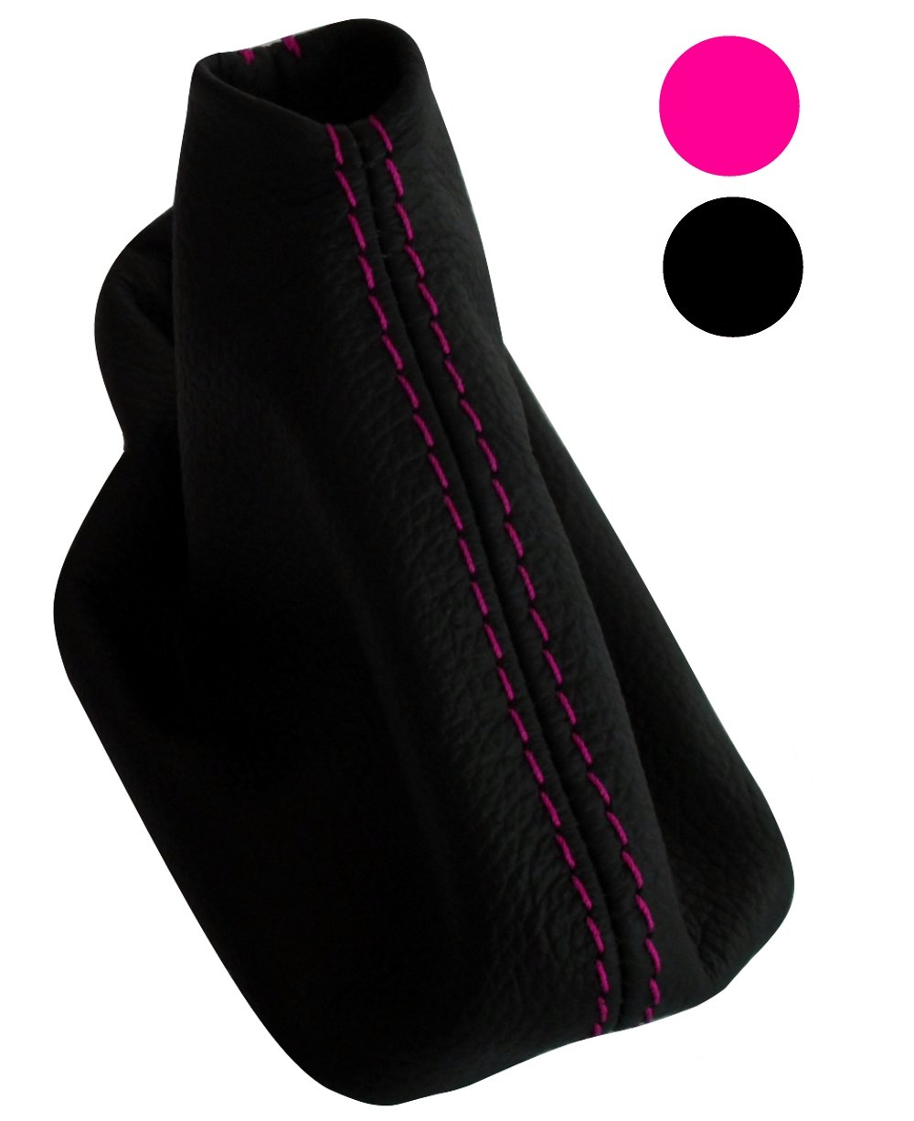 Rojo Funda para palanca de cambios 100/% Piel genuina negro con costuras de colores variables AERZETIX