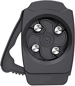 Oriflame Topless Can Opener, Jar Opener Party Pub Corkscrew Beverage Wrench for Household Kitchen for 8-19 oz Beverage Cans (Gray)
