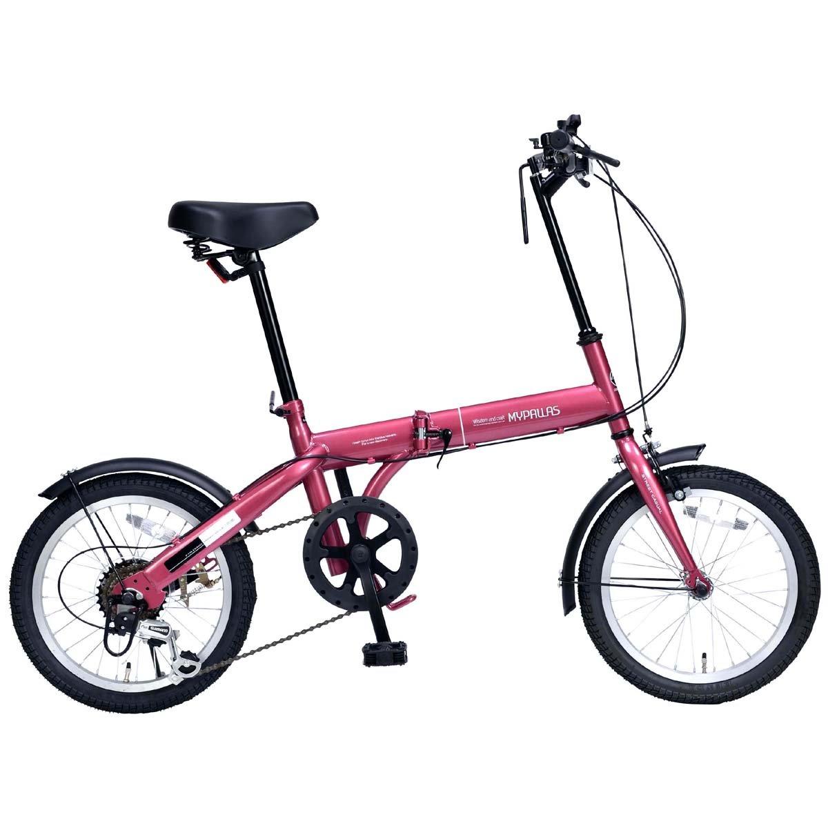 My Pallas(マイパラス) 折畳自転車16インチシマノ6段ギア付 M-103 B07CWNH554 ルージュ ルージュ