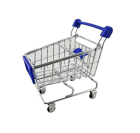 yueton Mini Carrito Supermercado Carrito Compra Modo de Utility Cart Juguete de almacenamiento