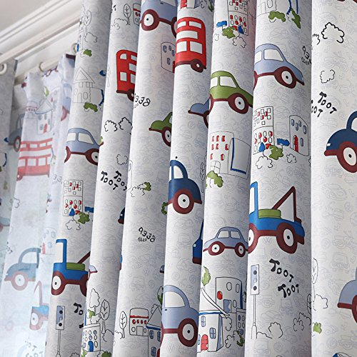 Car Cartoon Baby Boy Blackout Curtains For Children Room Living Room Bedroom YingYing Supplies