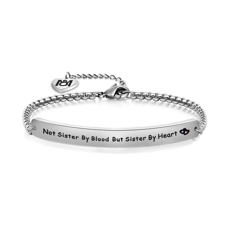 Myospark Not Sisters By Blood But Sisters By Heart Bracelet Best