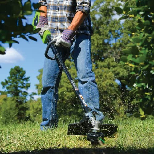 Greenworks 14-Inch 40V Cordless String Trimmer Attachment Capable , 4.0 AH Battery Included 21362
