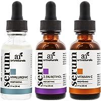 مجموعة المنتجات المقاومة للتقدم بالعمر من ارت ناتشورالز بالفيتامين سي وسيروم الريتينول وحمض الهيالورونيك