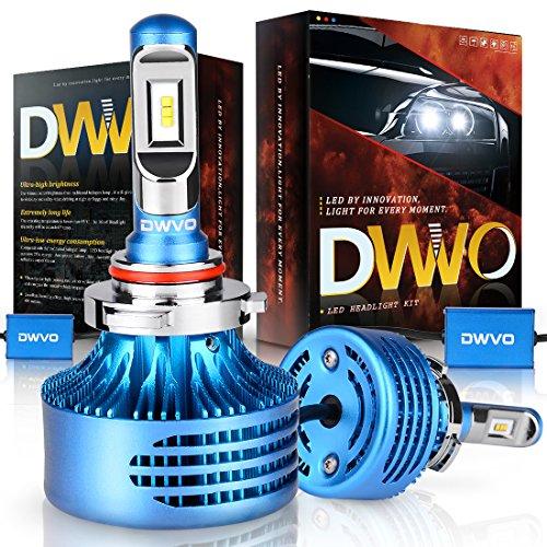 DWVO 9005 HB3 LED Headlight Bulbs, 6500K 16000Lm Super Bright Hi/Lo Beam Headlight Conversion Kit