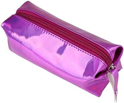 Colegio Estuche Joven Holograma PU Chica estuche arco iris Efecto Mujer cosmética Bolsa Bolsillos con cremallera: Amazon.es: Oficina y papelería