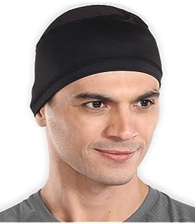 Jetec 2 Pieces Helmet Liner Skull Cap Running Beanie with Reflective Strap