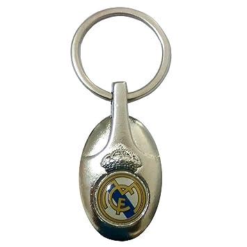 Llavero Real Madrid metálico ovalado escudo esmaltado ...