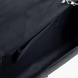 Amazon.com: PREMIUM metálico Glitter Flap Embrague Noche ...