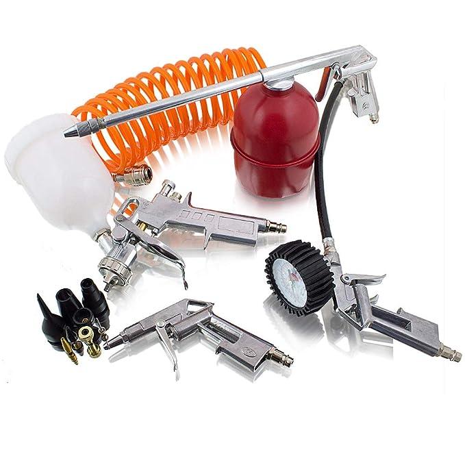13 piezas de aire comprimido Juego de accesorios para compresor neumático pistola Pintura: Amazon.es: Bricolaje y herramientas