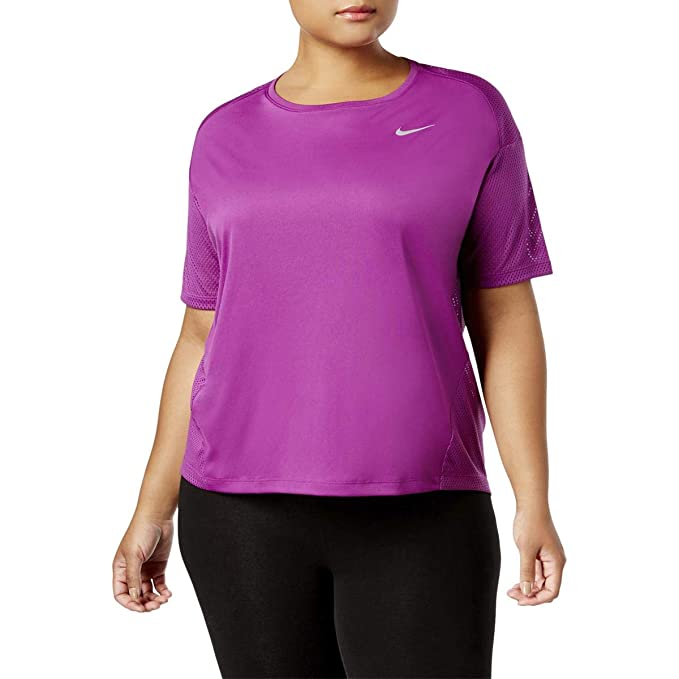 9bb9429b77941 Nike Womens Plus Dri-Fit Yoga Fitness Pullover Top at Amazon Women s  Clothing store