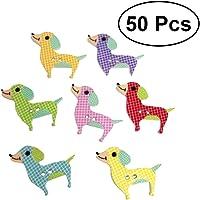 Artibetter 50 Piezas de Madera Botones de artesanía