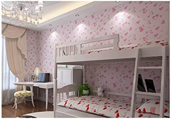 Amazon.com: Peel and Stick Wallpaper for Girls Pink - Self Adhesive ...