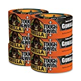Gorilla Tape, Black Tough & Wide Duct Tape, 2.88'' x 30 yd, Black, (Pack of 6)