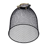 Rustic State Industrial Retro Style Mesh Wire Cage for Pendant Ceiling Lamp (Black) For Sale