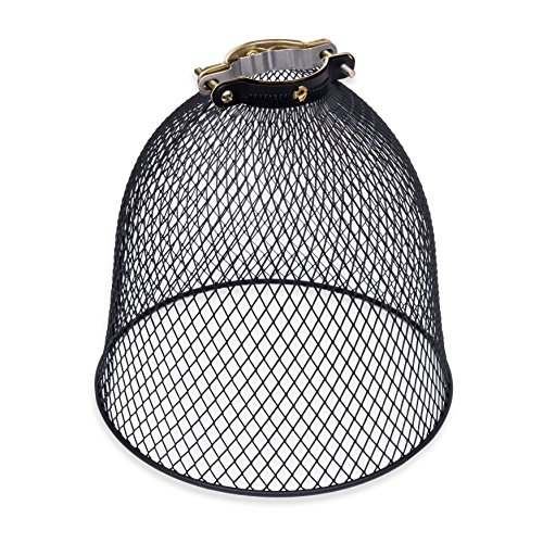 Rustic State Industrial Retro Style Mesh Wire Cage for Pendant Ceiling Lamp (Black) (Wire Cage Pendant)