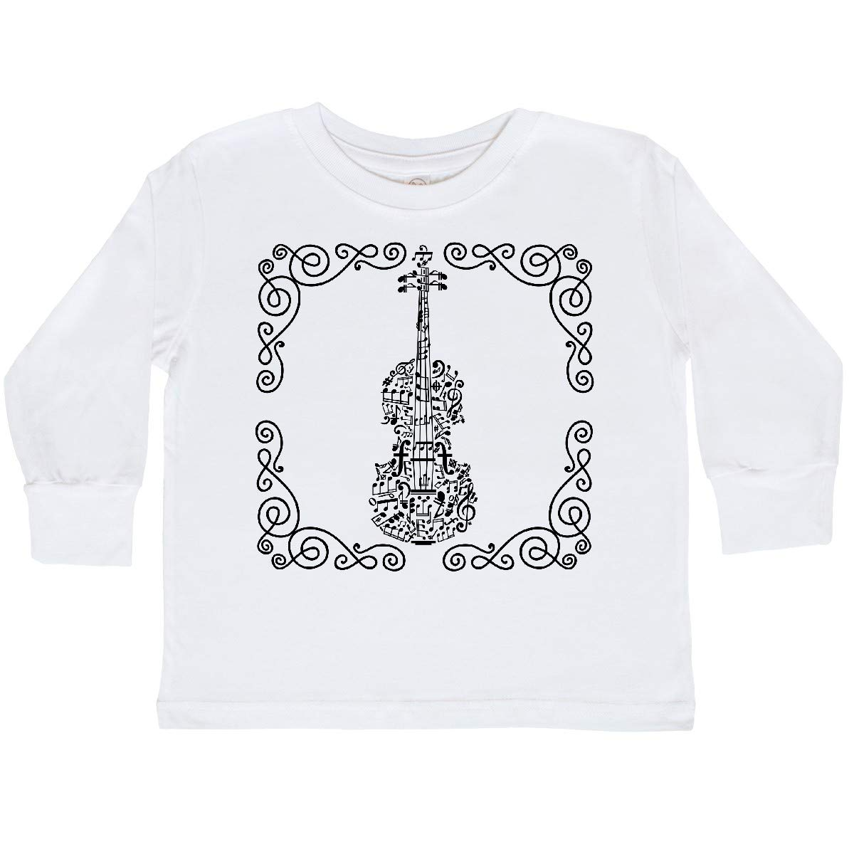 inktastic Violin Music Instrument Musician Gift Toddler Long Sleeve T-Shirt