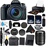 6Ave Canon EOS 77D DSLR Camera with 18-135mm USM Lens International Version (No Warranty) + Epson SureColor P800 Inkjet Printer + 16GB & 32GB SDHC Class 10 Memory Card + Carrying Case Bundle