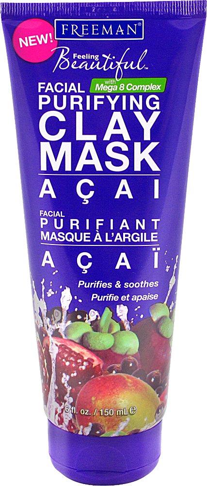 Freeman Feeling Beautiful Clay Purifying Facial Mask 6 Fl Oz
