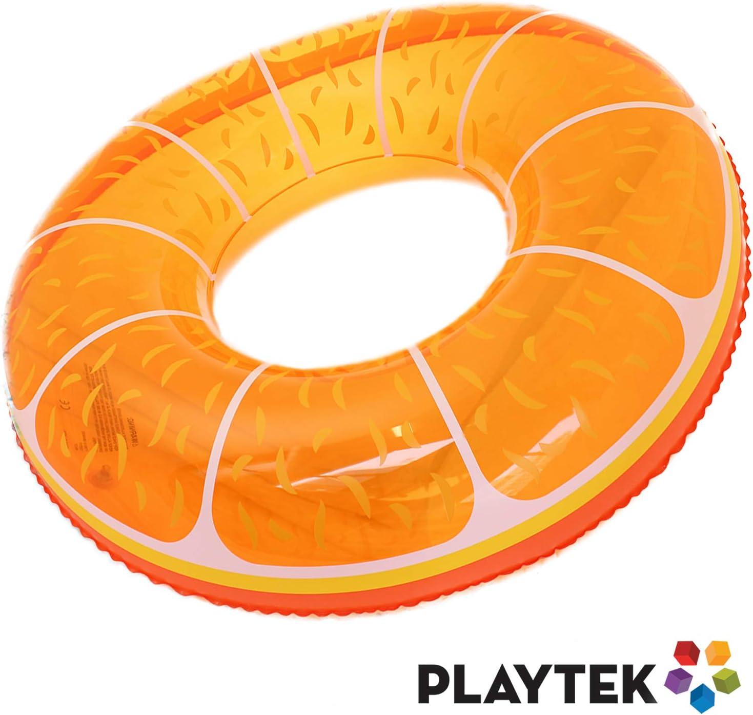 Playtek Toys Tropical Floral Print Tube Inflatable Pool Float