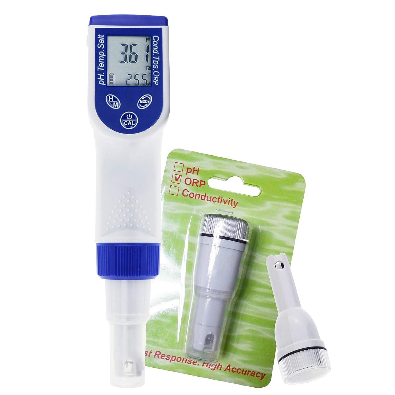 6 en 1 Probador de calidad de agua PH ORP EC TDS Temp ORP