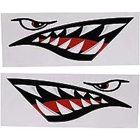 Hajar mun tänder dekaler, 2 st hajar tänder mun vinylklistermärke vattentät grafik tillbehör för bil kajak kanot fiske…