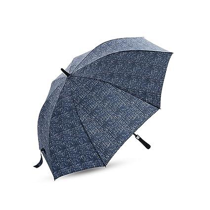 ZJM-umbrella Paraguas Moderno de la manija Larga Paraguas Doble del Uso de los Amantes