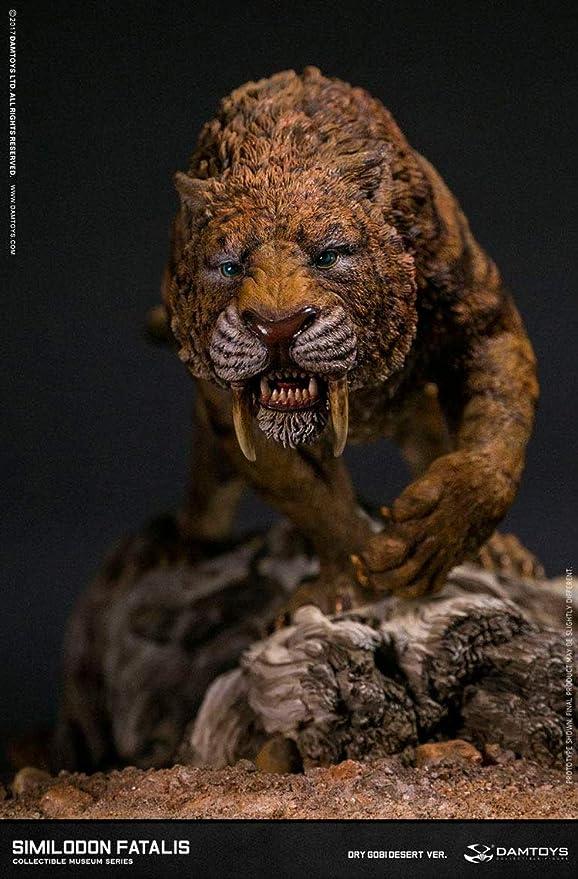 DamToys Estatua Smilodon Fatalis Dry Gobi Desert Ver. 28 cm ...