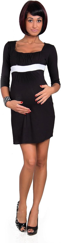 hi!mom Womens Maternity Dress 3//4 Sleeve Square Neck Pregnancy Tunic Plus Sizes 8-18 8490