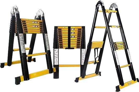 DD Escalera Telescópica, Escalera Plegable-Escalera En Espiga Aluminio, Escalera Elevable Multifunción, Para Familia, Exterior, Seguridad, Ingeniería.: Amazon.es: Bricolaje y herramientas