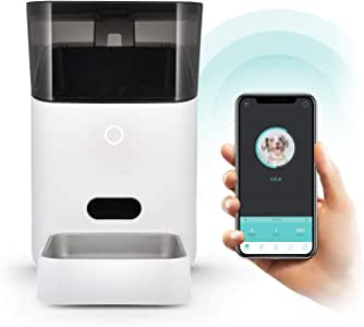 Petnet SmartFeeder (2nd gen) - Automatic Wi-Fi Pet Feeder with Personalized Portions for Cats and Dogs - App for Android, iOS and Compatible with Alexa - White