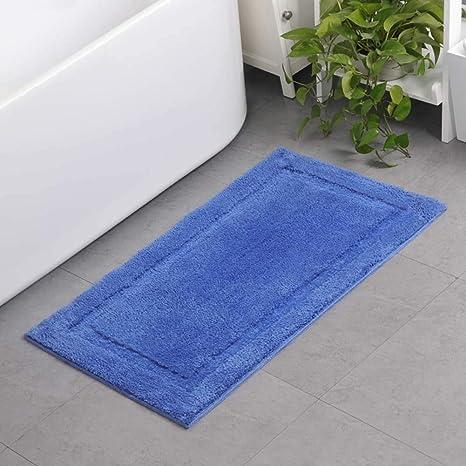Microfibre Memory Foam Bathroom Shower Bath Mat With Non Slip Back 15 Colours