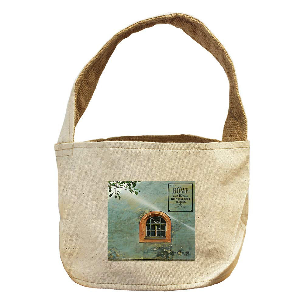 Style in Print Home with Window The Nicest Word There is. Canvas and Burlap Storage Basket