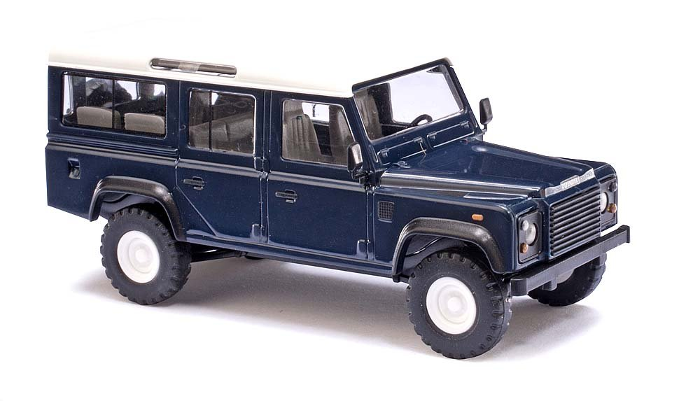Busch 50302 Land Rover Defender Blue HO Scale Model Vehicle