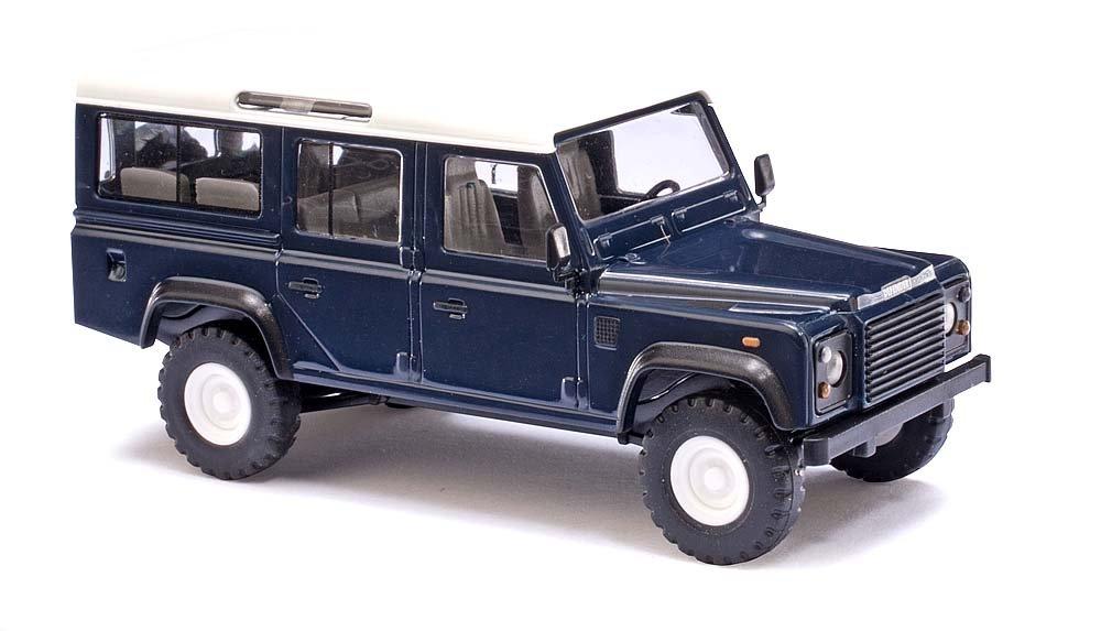 Busch 50302 Land Rover Defender Blue HO Scale Model Vehicle