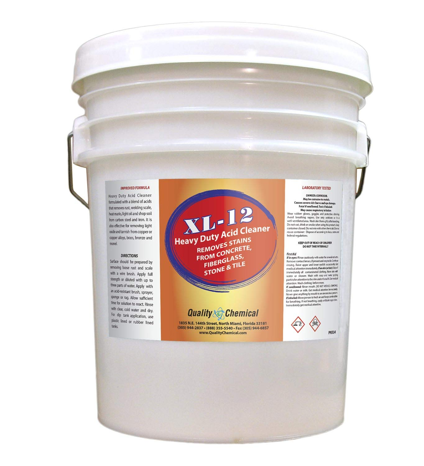 Amazoncom Xl 12 High Power Acid Cleaner Formulated To Remove Rust