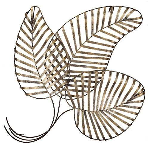 (Adeco DN0013 Bronze Leaf Urban Design Metal Wall Decor for Nature Home Art Decoration & Kitchen Gifts,)