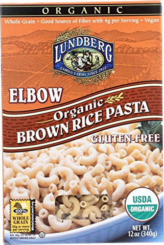Brown Rice Pasta Elbow (Lundberg Family Farms Organic Brown Rice Pasta, Elbow, 12 Ounce (Pack of 12))